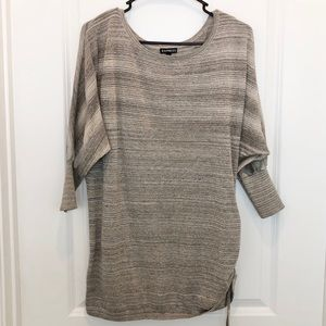 Express Metallic Sweater Top Size L